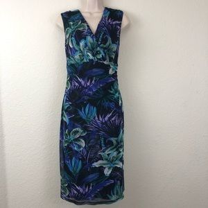 NWT Connected Apparel blue floral dress